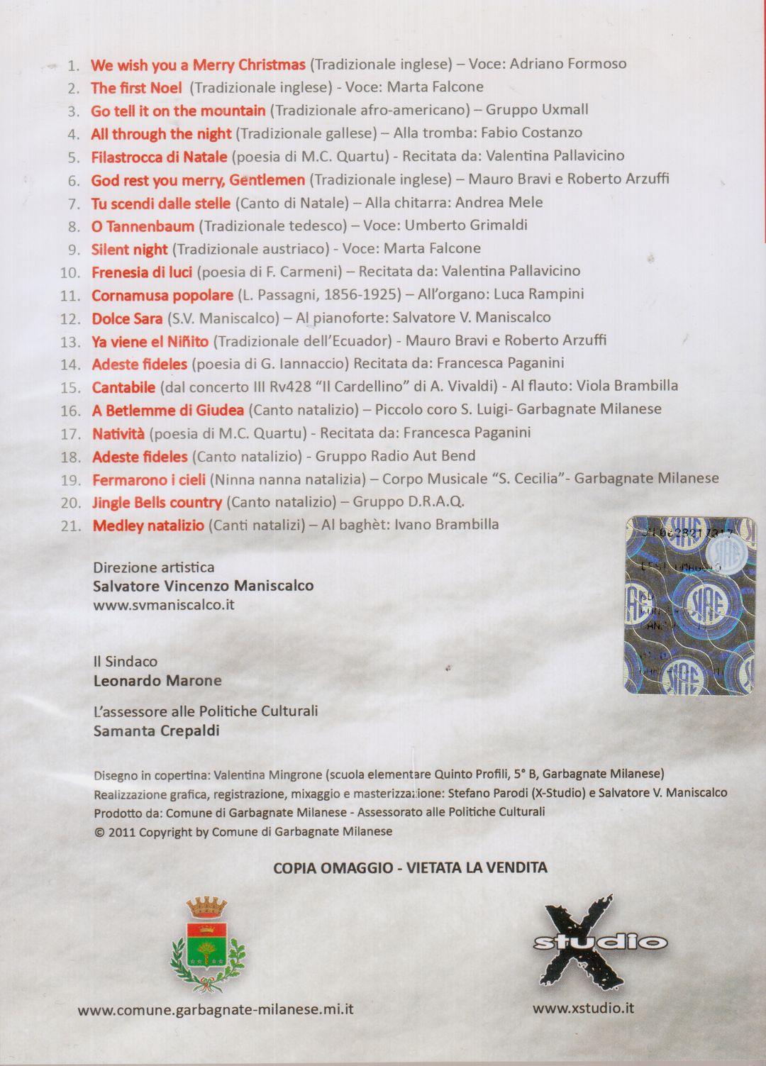 Buon Natale Rap 5 B.Pubblicazioni Salvatore V Maniscalco